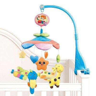 NextX Flash B201 Baby Bedding Crib Musical Mobile with Hanging Rotating Soft ...