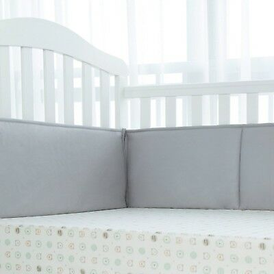 TILLYOU Padded Baby Crib Bumper, Premium Woven Cotton and Breathable Fill-in(...