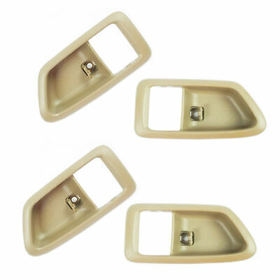 Left + Right Set 4pcs For 97-01 Toyota Camry Tan Inner Inside Door Handle Case