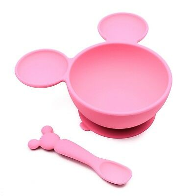 Bumkins Disney Baby Silicone First Feeding Set, Minnie Mouse Pink