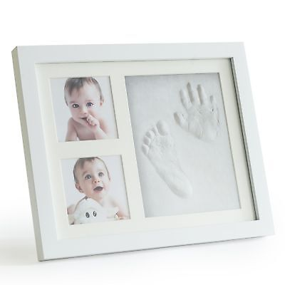 Up & Raise Premium Clay Baby Footprint & Handprint Picture Frame Kit  Safe an...
