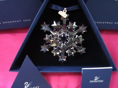 Swarovski Crystal 2004 Rockefeller Star Large Annual Christmas Ornament. MInt