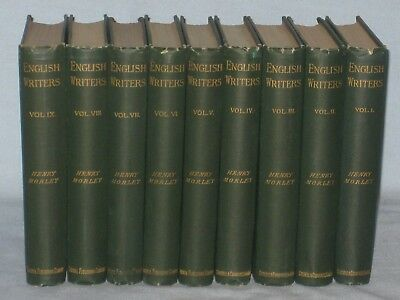 1887-92 Lot Set Of 9 Books English Writers By Henry Morley