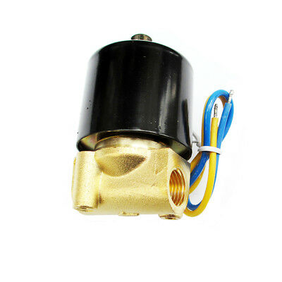 1/4 Solenoid Valve 12v DC Brass Electric Air Water Gas Diesel Normal Closed NPT