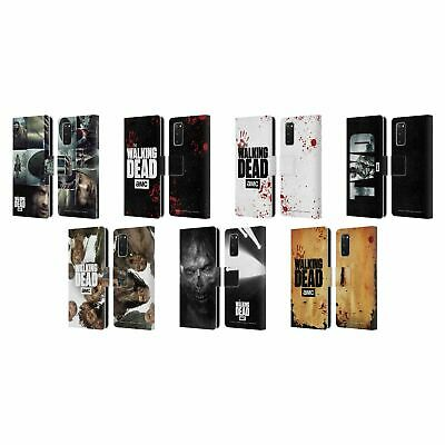 Official Amc The Walking Dead Logo Leather Book Wallet Case For Samsung Phones 1