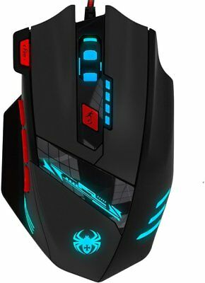 Zelotes T90 9200 DPI Gaming Mouse Professional 8 Buttons Wired USB