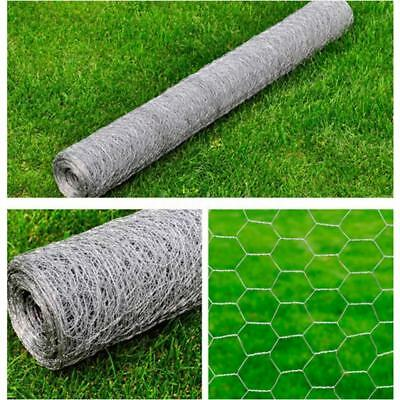 Galvanised Wire Netting Mesh Pet Poultry Fencing Chicken Coop 1x10 m, 0.7mm I4C7