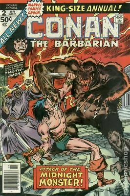 Conan the Barbarian (Marvel) Annual #2 1976 VG/FN 5.0 Stock Image Low Grade