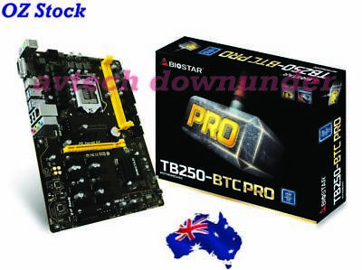Biostar TB250 BTC Pro 12PCI-E Ethereum BitcoinGold Mining Rig Motherboard