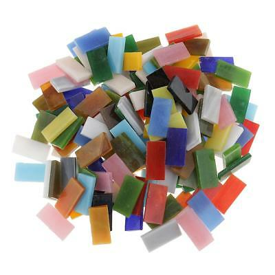 150x Colorful Rectangle Glass Mosaic Tiles Vitreous for Art Crafts Supplies