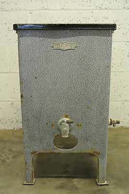 Vintage 1930s DEAN Square Galvanised & Enamel Gas Boiler Dolly Tub Planter