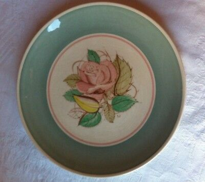 Vintage Hand Painted China Plate - Susie Cooper - Pattern 1894 - Rose Leaves etc