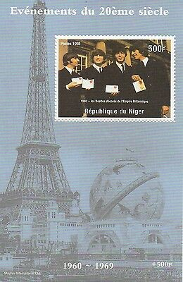 1998 The Beatles John Lennon Paul Mccartney Eiffel Tower Mnh Stamp Sheetlet