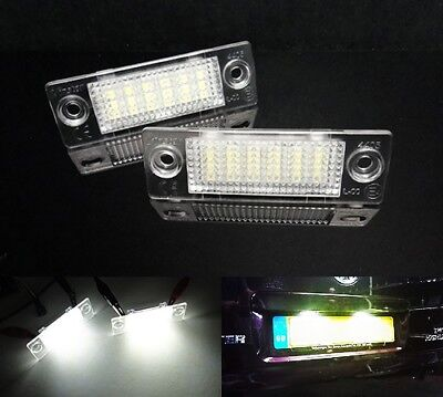 LED Licence Number Plate Light White Transporter T5 T6 Caddy Jetta Passat Superb