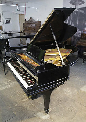 ANTIQUE, STEINWAY MODEL A grand piano with a walnut case and