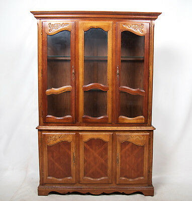 Library Bookcase Fine Quality Mahogany Glass Glazed Display Cabinet Large