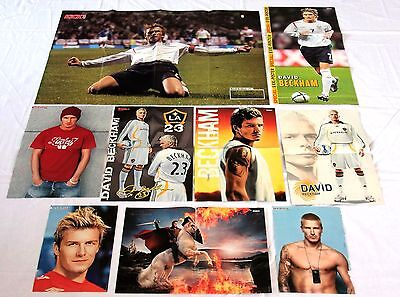 9 DAVID BECKHAM - Poster !!! rare Fan collection Sammlung England #7 L.A. Galaxy