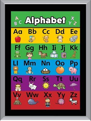 Alphabet Chart A1 To A4 Size Poster Prints
