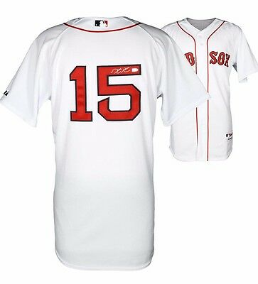 Boston Red Sox Baseball Jersey Dustin Pedroia Autographed Authentic New Majestic