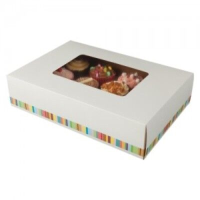 Windowed 12 Cup Cake Boxes / Muffin Boxes (Dozens) - UK Made / Top Quality