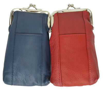 CIGARETTE Soft Case pouch Genuine Leather Holder Men or Lady clasp open COLORS