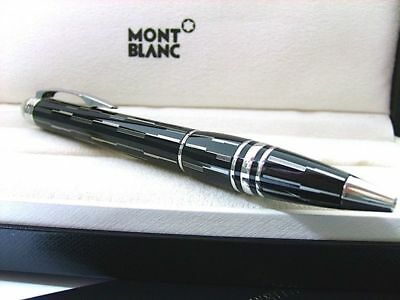 Montblanc 104227 Starwalker Black Mystery Lacquer Floating Star Ballpoint NIB