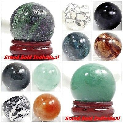 """30mm Round Ball Crystal Healing Sphere Massage Rock Stones Stand """"FREE SHIPPING"""""""