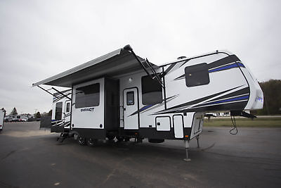 I Beat Show Pricing 2018 Impact 367 Fifth Wheel Toy Hauler 13Ft Garage