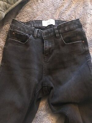 Girls NEW LOOK Washed Black Skinny Jeans Age 13. With Rips.