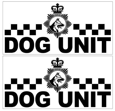 sm8 COLOUR VARIATIONS 3 X LARGE SECURITY DOG UNIT VEHICLE STICKER DECALS