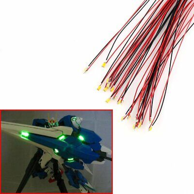 T0402WM 20pcs Pre-soldered Micro Litz Wired Leads Warm White SMD Led 0402