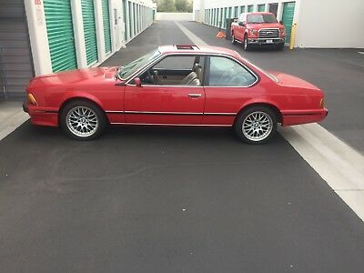 1989 BMW 6-Series Loaded with all options 1989 BMW 635csi Red/Tan Interior