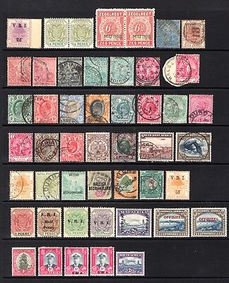 BRITISH AFRICA EARLY RANGE OF GOOD TO FINE USED + MNH + MOUNTED MINT x 48 STAMPS