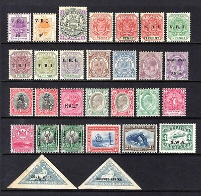 BRITISH AFRICA EARLY RANGE OF LIGHTLY MOUNTED MINT ODD HINGE REMAIN x 29 STAMPS
