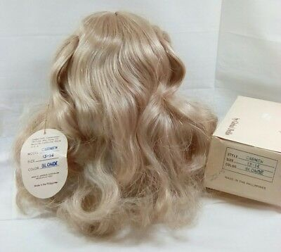Global ~Carmen~Blonde doll wig Size 13 - 14 NIB