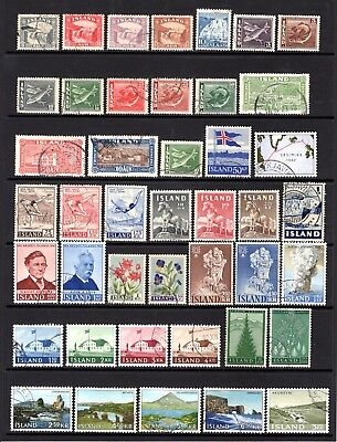 ICELAND EARLY TO MODERN GOOD TO FINE USED RANGE x 43 STAMPS NOT CAT BY ME