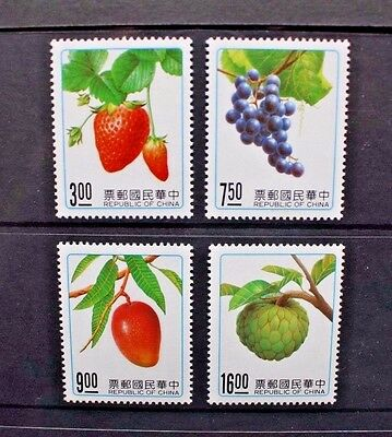 CHINA TAIWAN 1991 Fruits. Set of 4. Mint Never Hinged. SG1981/1984.