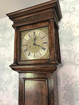 Walnut 8 Day Longcase Clock - Baker Blandford Dorset