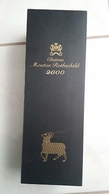 Chateau Mouton Rothschild 2000 Empty Wooden Wine Box