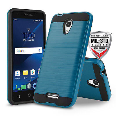 Blue Protech Armor Shockproof Cover Phone Case For [Alcatel Raven Lte A574Bl]