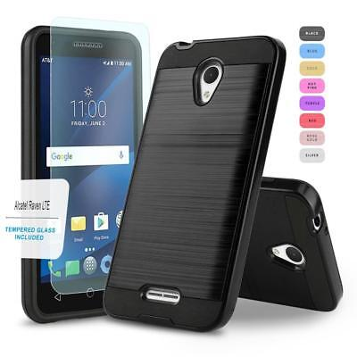 Protech Armor Hybrid Cover Phone Case For [Alcatel Raven Lte] +Tempered Glass