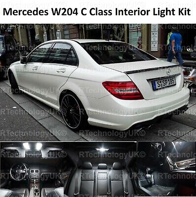 2018 Premium Mercedes C Class W204 Interior Full White Led Bulbs Light Kit Set