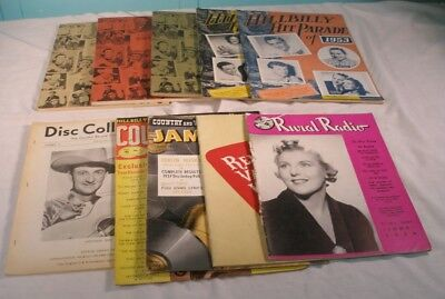 Lot Of 10 Vintage Country & Western Music Publications, 1939 - 1957