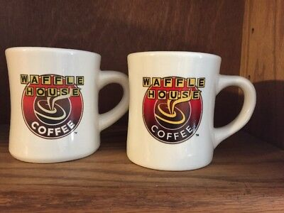 Waffle House Restaurant ~  2 Coffee Cups Mugs by Tuxton ~ Advertising