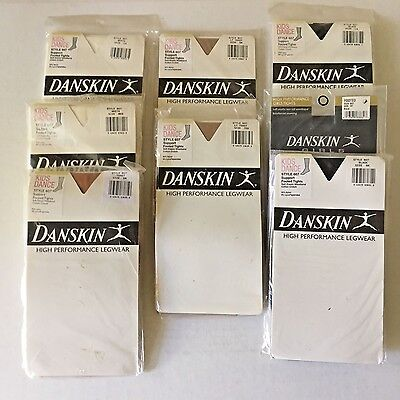 Danskin #607 Girls' Support Footed Tights - NOS, Tod, Int, Sm, Med, Lg