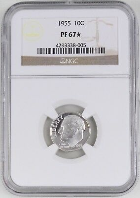 1955 Proof Roosevelt Silver Dime 10C NGC PF67* Star