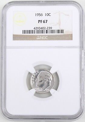 1956 Proof Roosevelt Silver Dime 10C NGC PF67