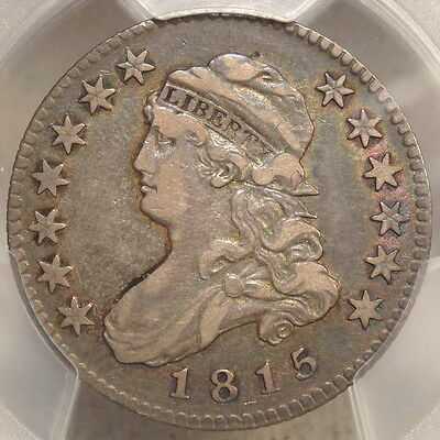 1815 Capped Bust Quarter, Choice Very Fine PCGS VF-25, CAC, Attractive Type Coin