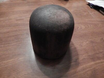 """Antique Milliners Hat Block, 21.25"""" circumference, 6"""" tall, 2 lb. 11 oz."""