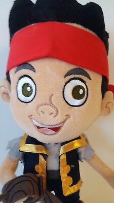 "Jake The Pirate and the Never Land Pirates 13"" Plush Toy Doll Disney Store !!!"